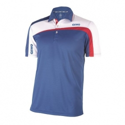 Gewo Shirt Teramo S18-1 Mikrofaser blauw-wit