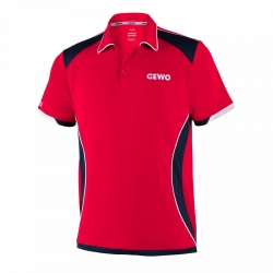 Gewo Shirt Murano Microfaser rood-zwart