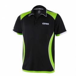 Gewo Shirt Murano Microfaser zwart-groen