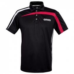 Gewo Shirt Primus Polyester zwart-rood